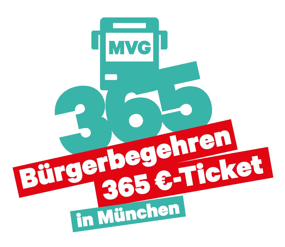 Bürgerbegehren 365€-MVG-Ticket